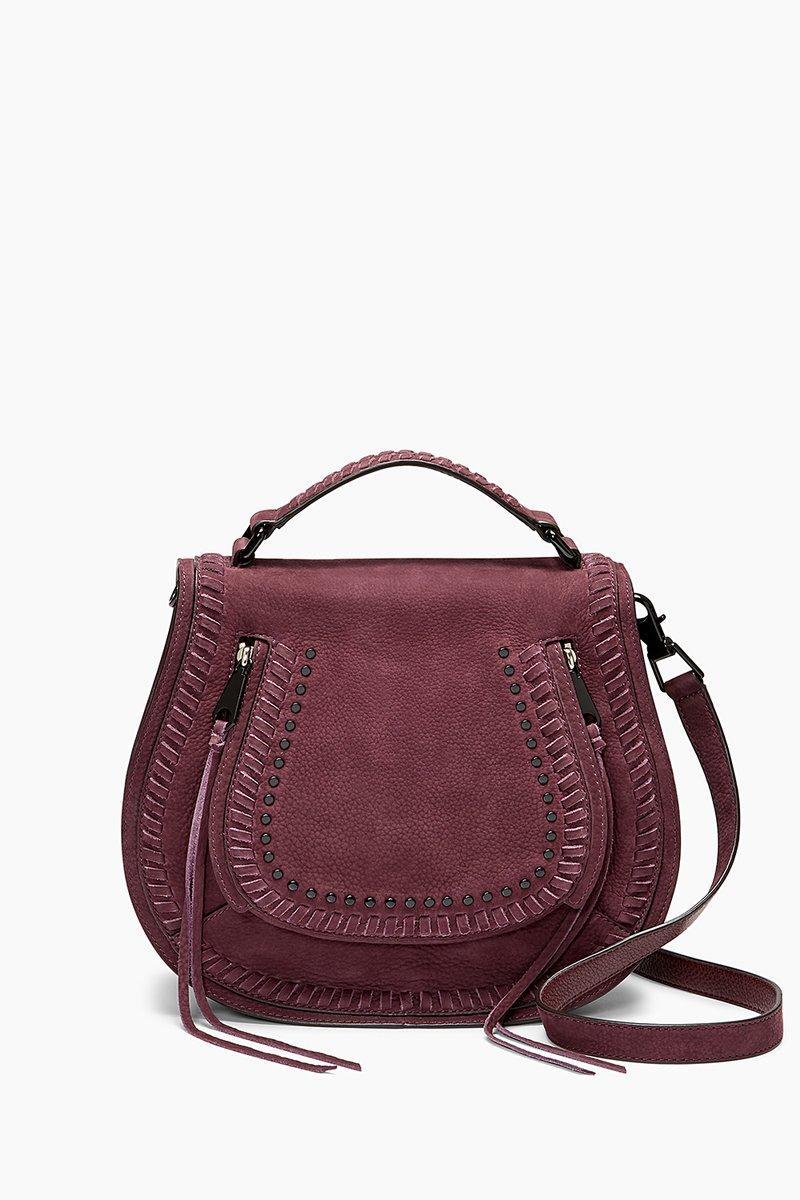 Rebecca Minkoff Vanity Saddle Bag In Dark Cherry