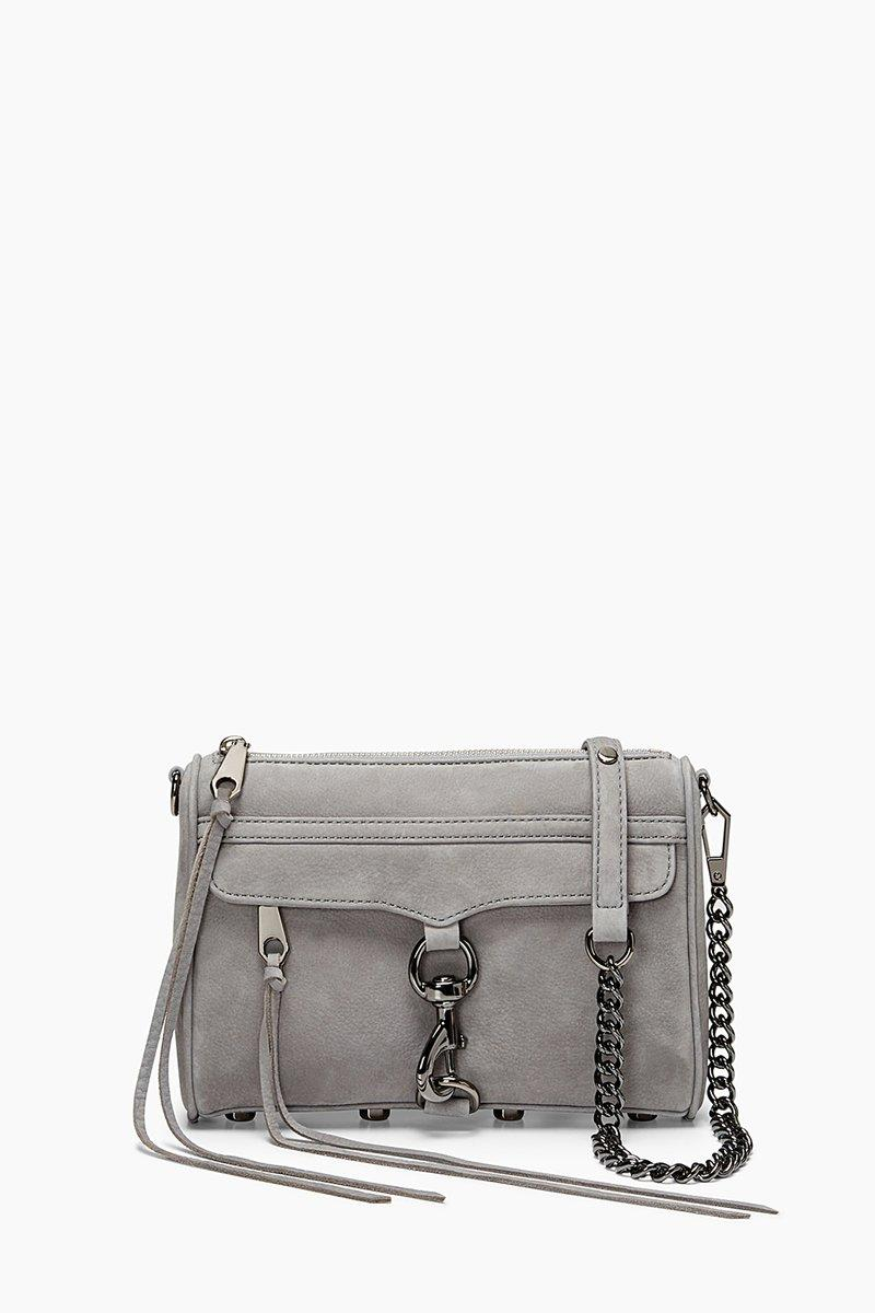 Rebecca Minkoff Grey Denim Mini M.a.c. Crossbody Bag |