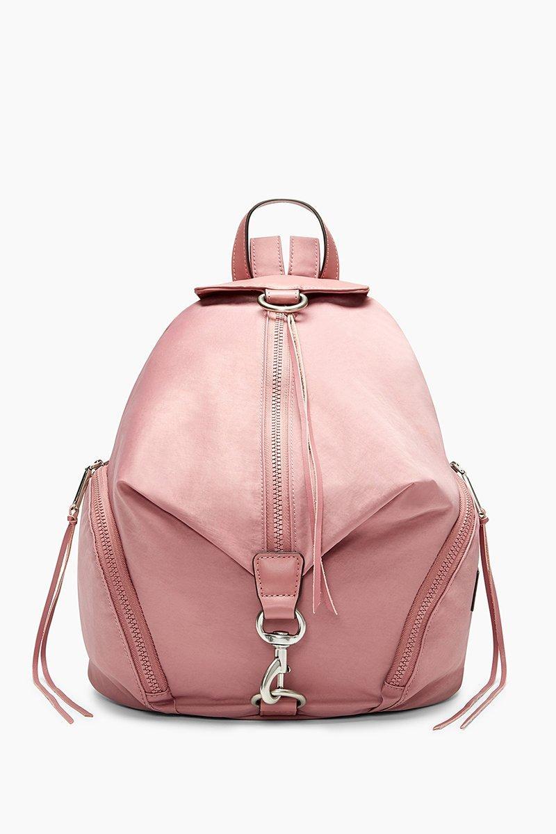 Rebecca Minkoff Julian Nylon Backpack In Smoky Rose