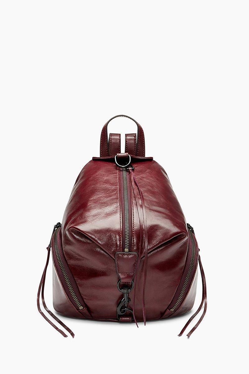 Rebecca Minkoff Medium Julian Backpack In Dark Cherry