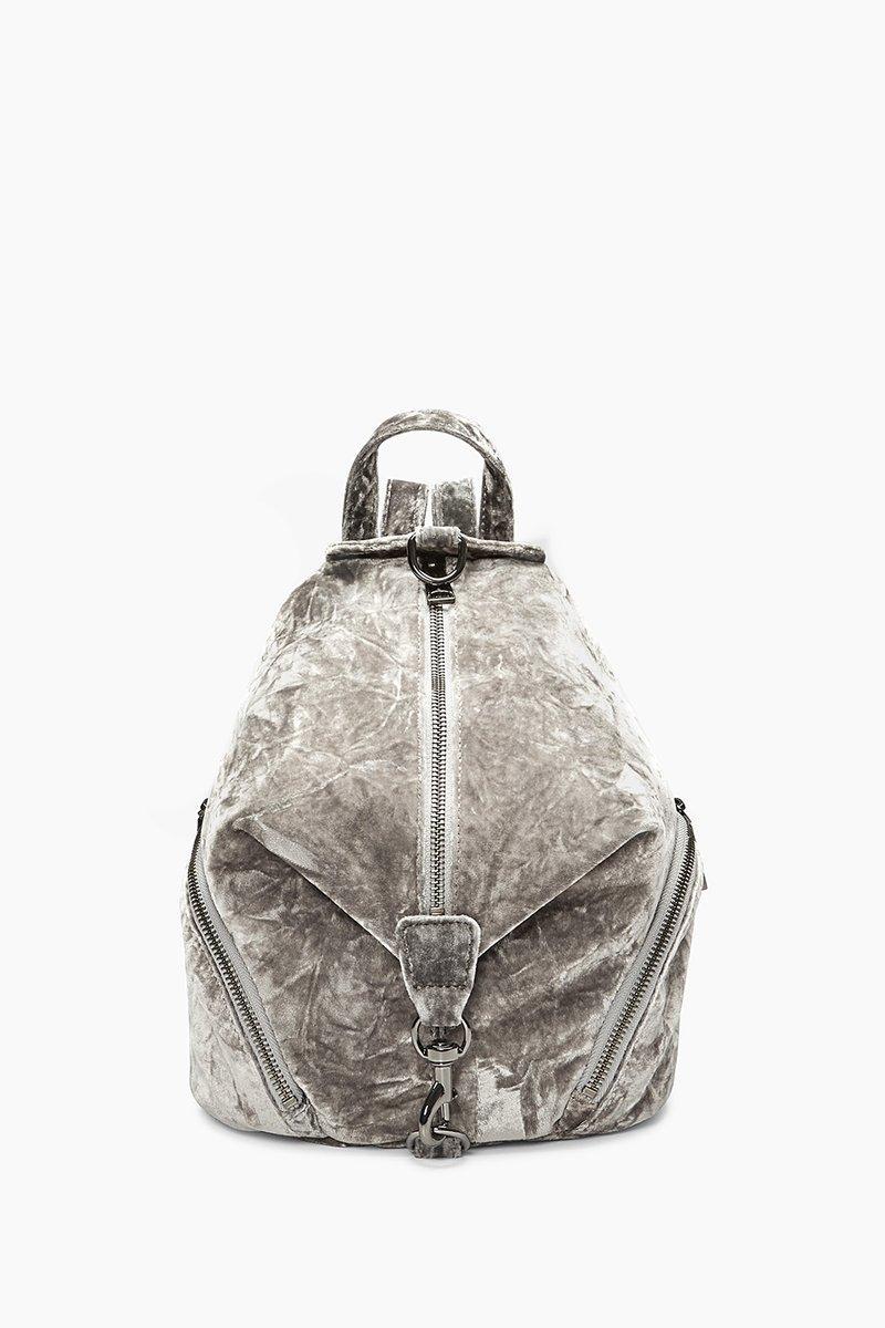 Rebecca Minkoff Velvet Medium Julian Backpack In Grey