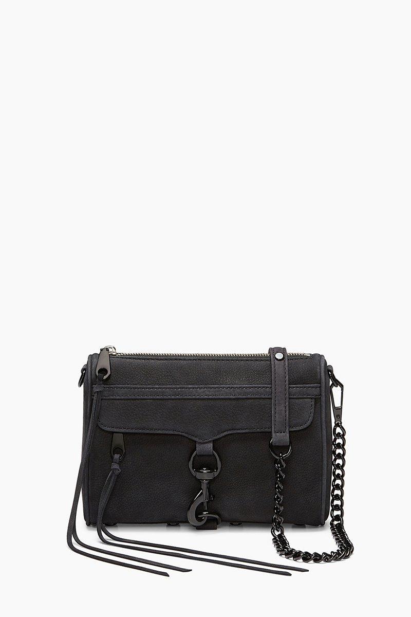 Rebecca Minkoff Matte Black Mini M.a.c. Crossbody Bag |