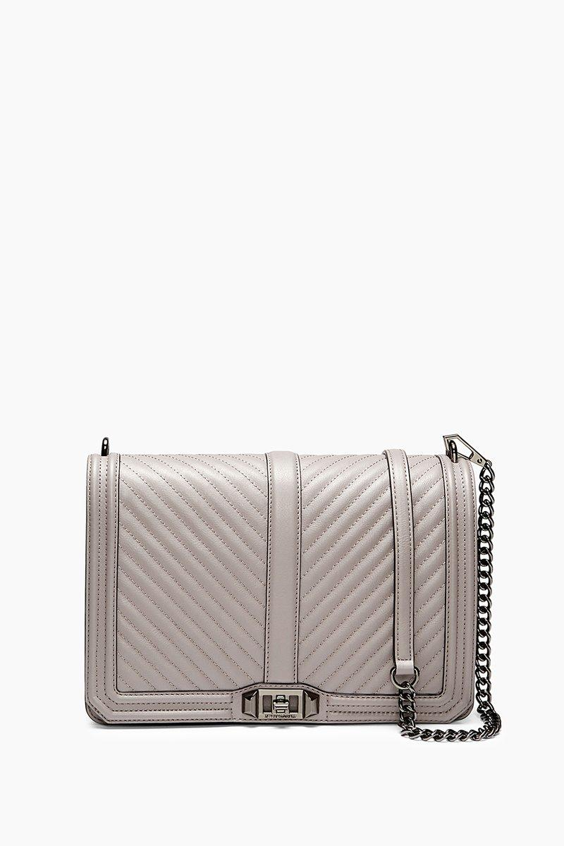Rebecca Minkoff Grey Jumbo Love Crossbody Bag |