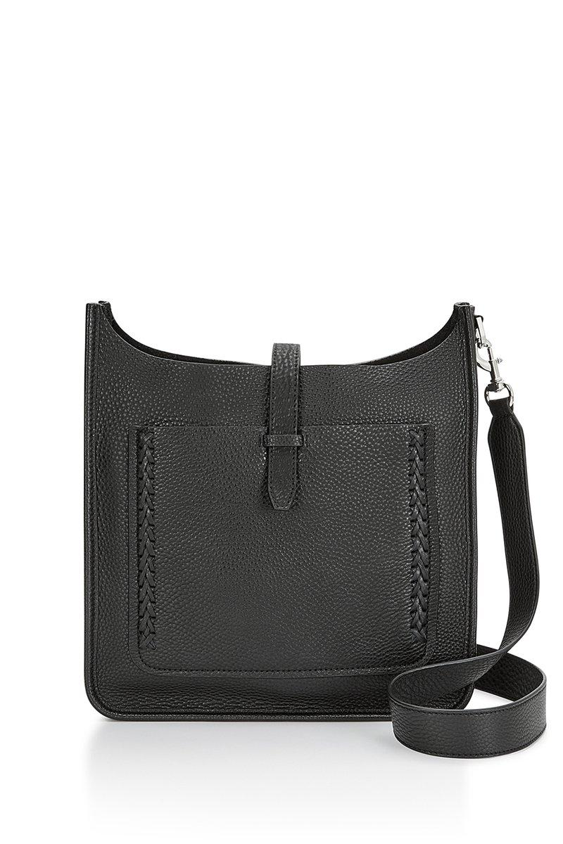 Rebecca Minkoff Unlined Feed Bag With Whipstitch In Black