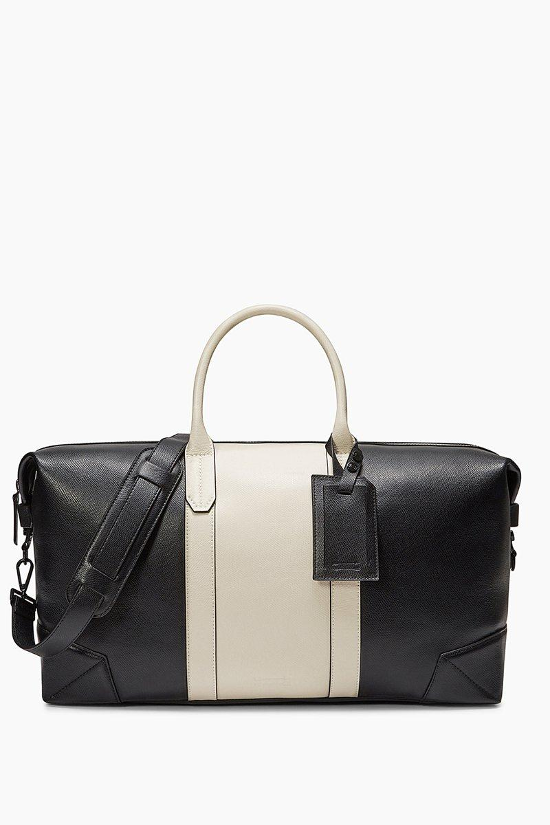 Rebecca Minkoff Wythe Weekender With Luggage Tag In Black/cement