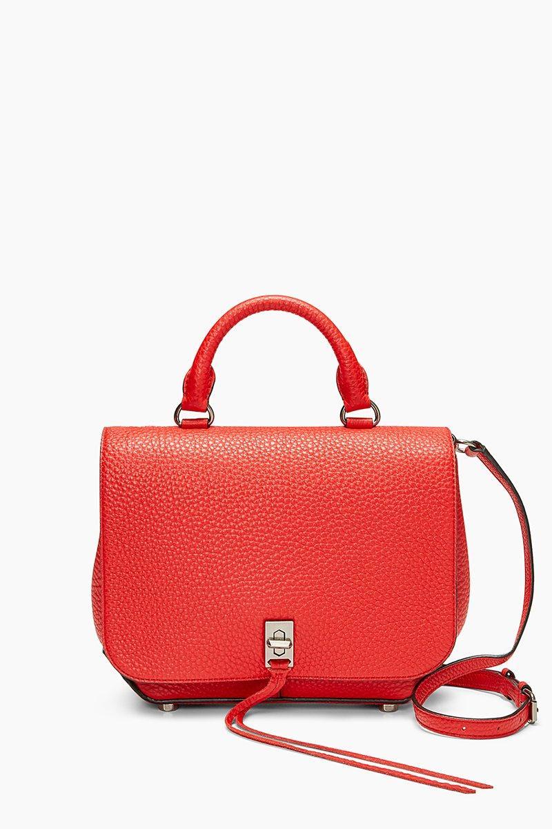 Rebecca Minkoff Red Medium Darren Convertible Backpack |  In Carnation Red