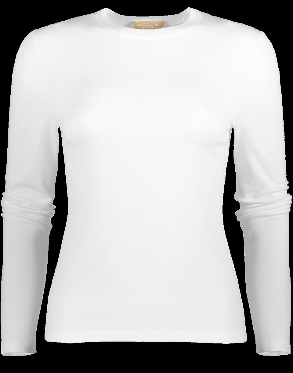 Michael Kors Stretch Viscose Top In White