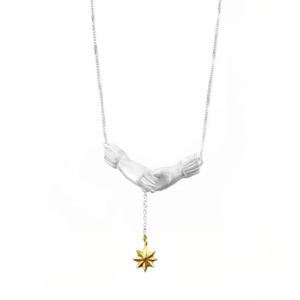 Bark Silver Reach For The Stars Necklace