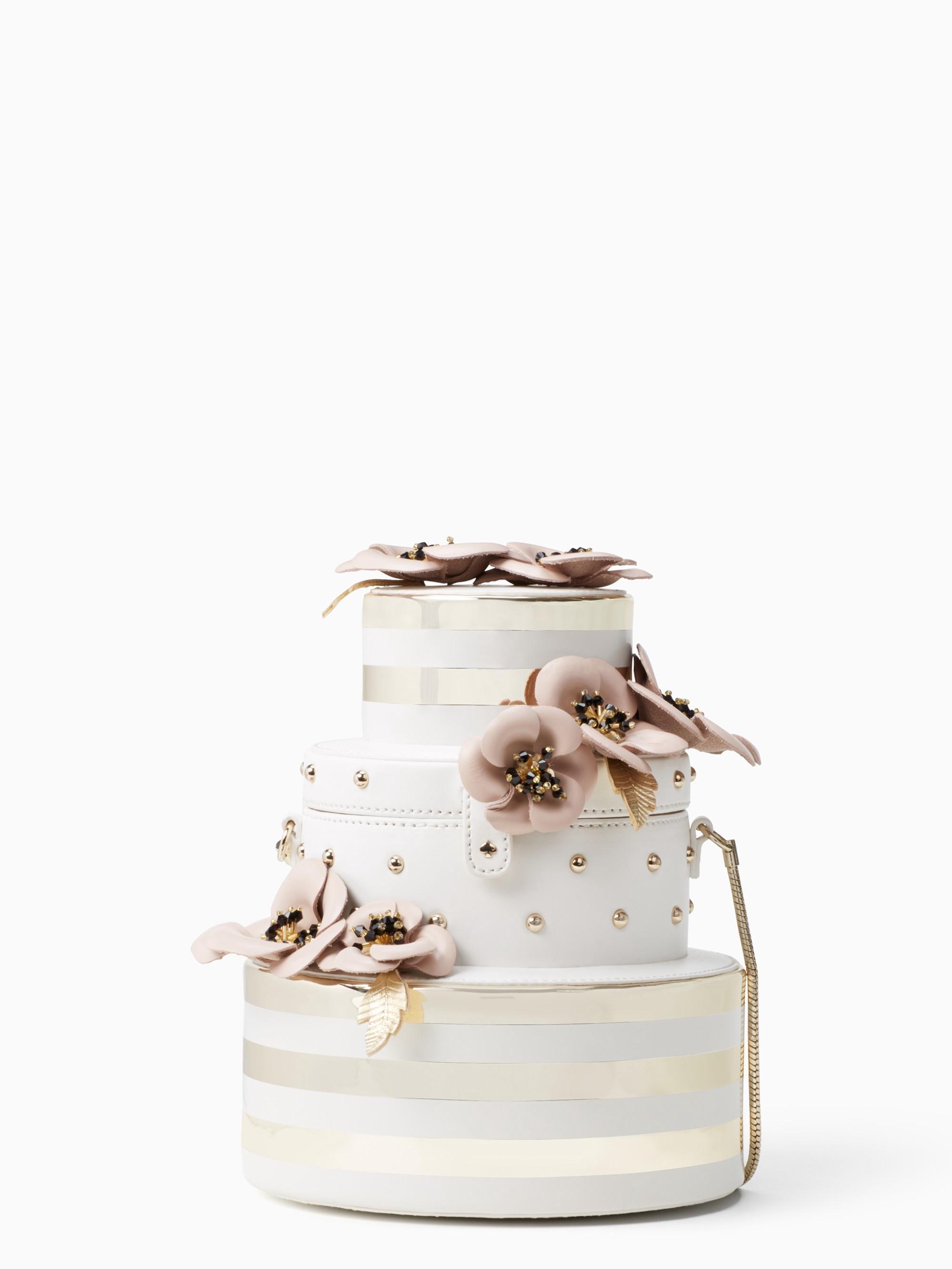 Kate Spade Wedding Belles Flower Wedding Cake Bag In Gold