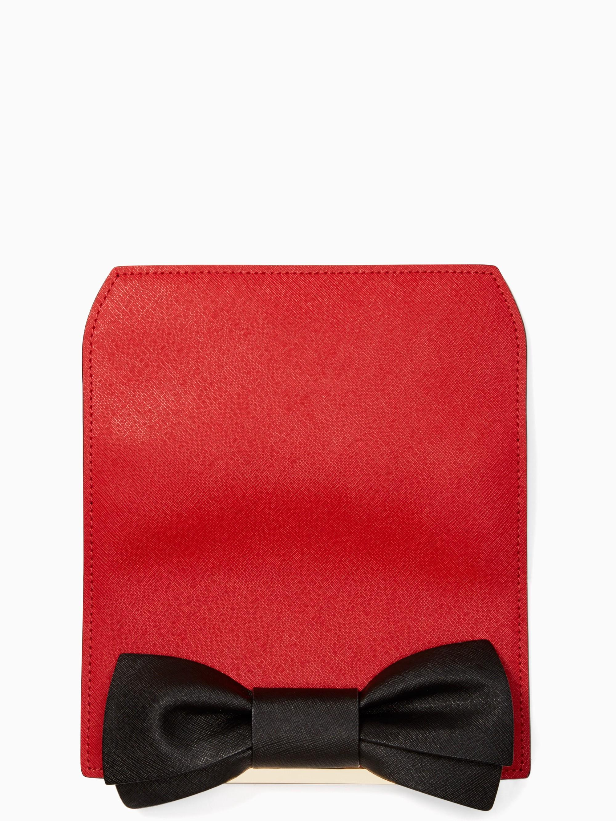 Kate Spade Make It Mine Bow Flap In Red Carpet/black