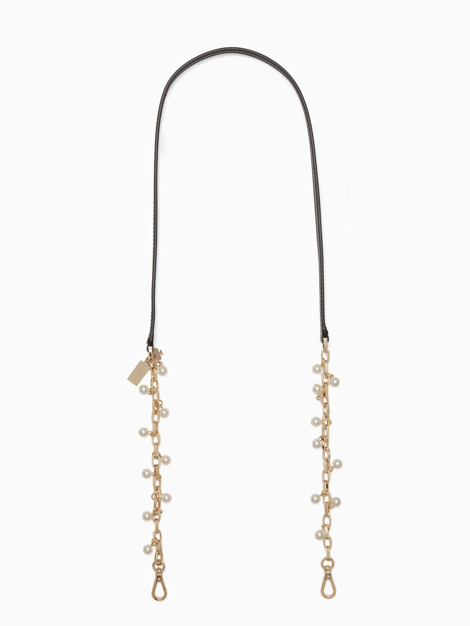 Kate Spade Make It Mine Pearl Chain Strap In Black