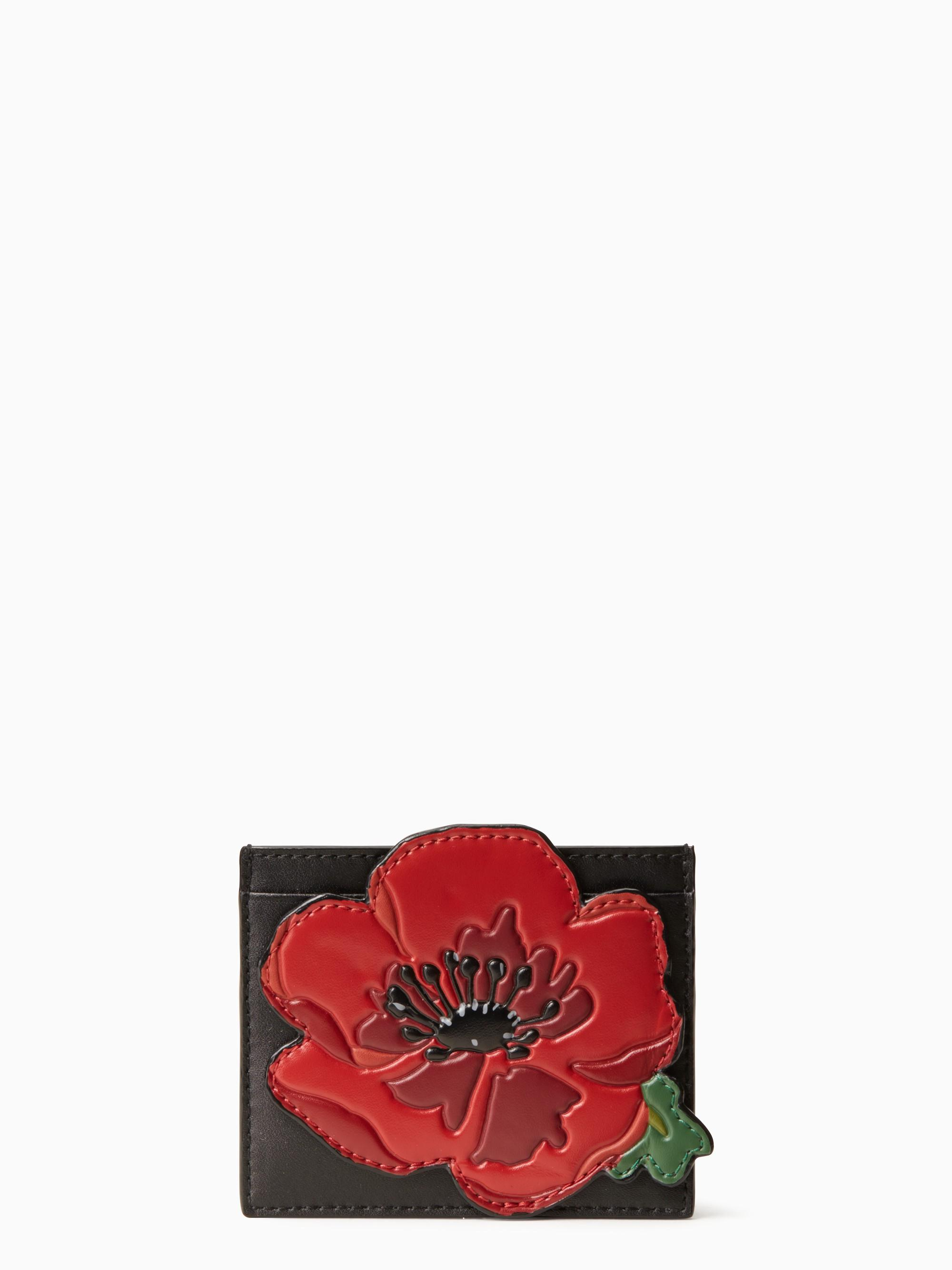 Kate Spade Ooh La La Poppy Applique Card Holder