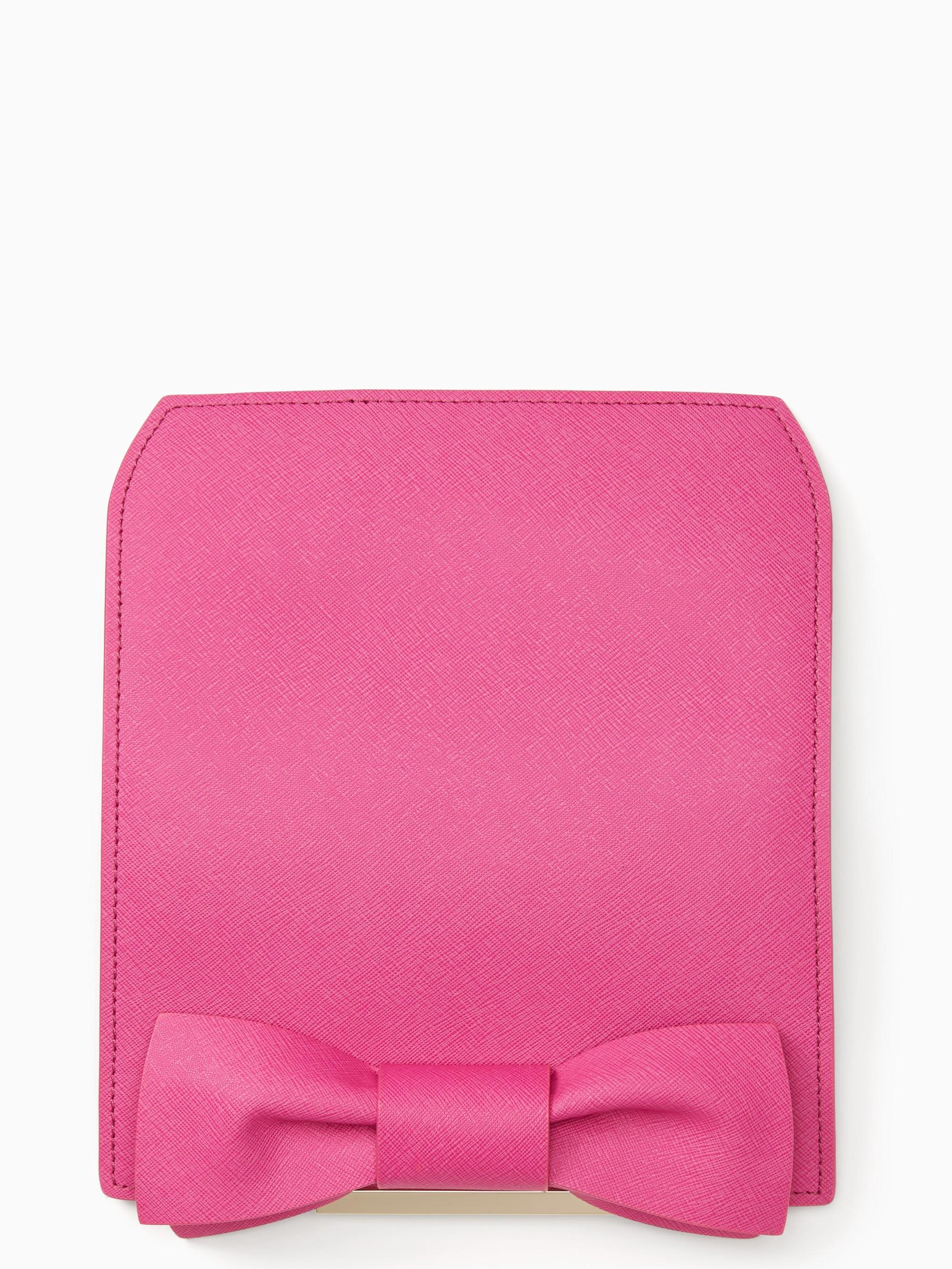 Kate Spade Make It Mine Bow Flap In Vivid Snapdragon