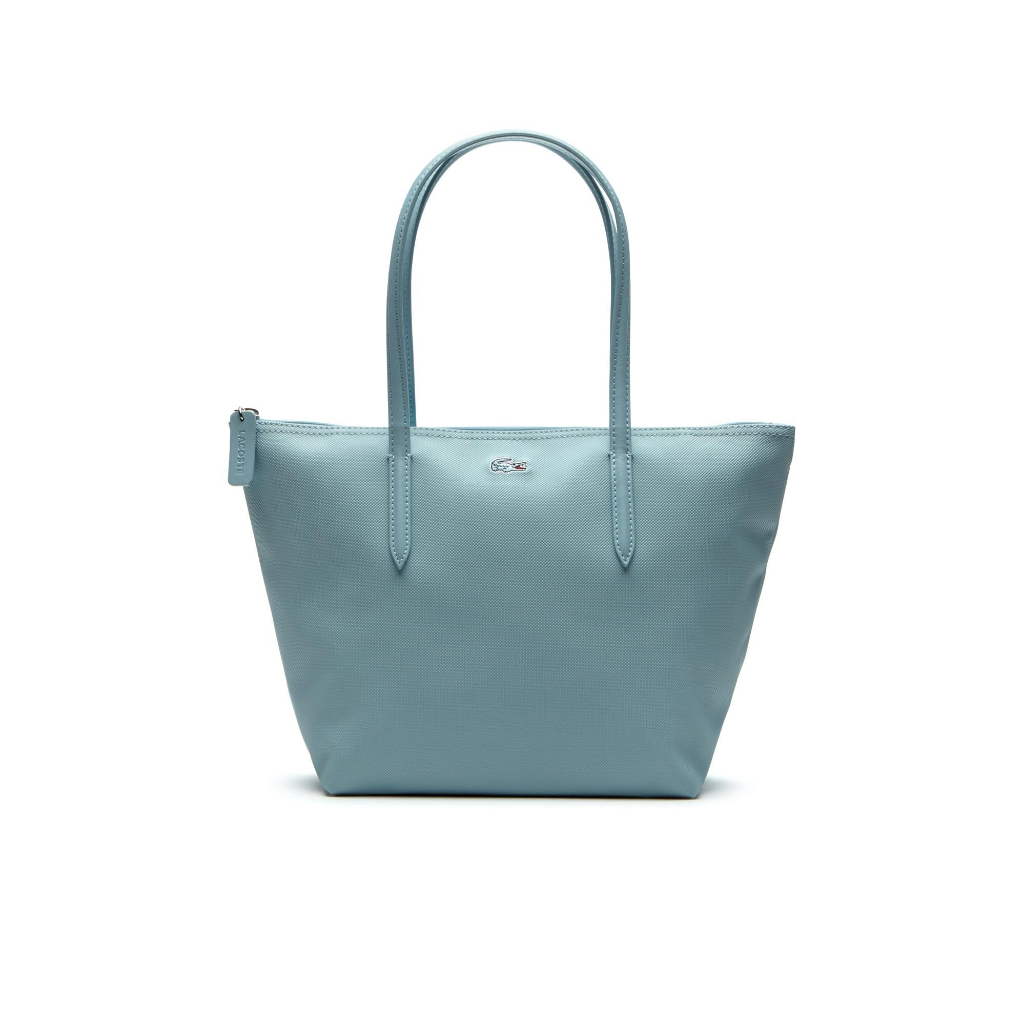 Lacoste Women's L.12.12 Concept Small Zip Tote Bag In Sterling Blue