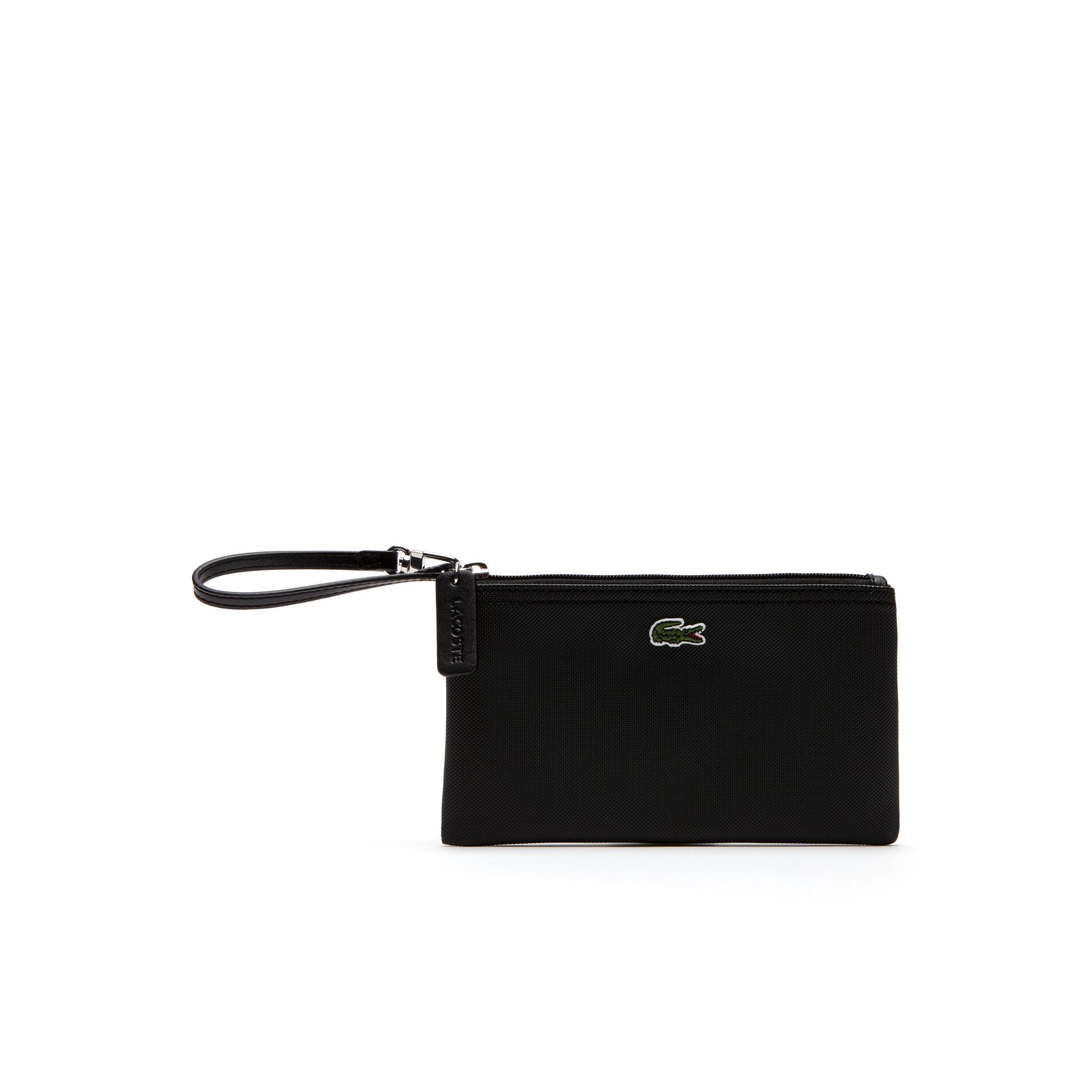 Lacoste Women's L.12.12 Concept Zip Clutch Bag In Black