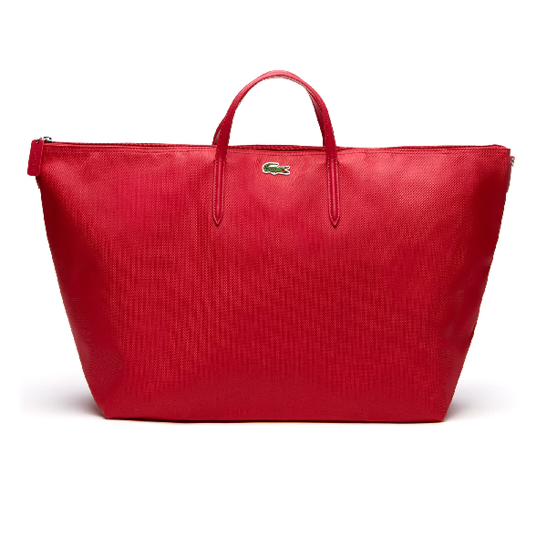 Lacoste Women's L.12.12 Concept Dual Carry Zip Tote Bag In Virtual Pink
