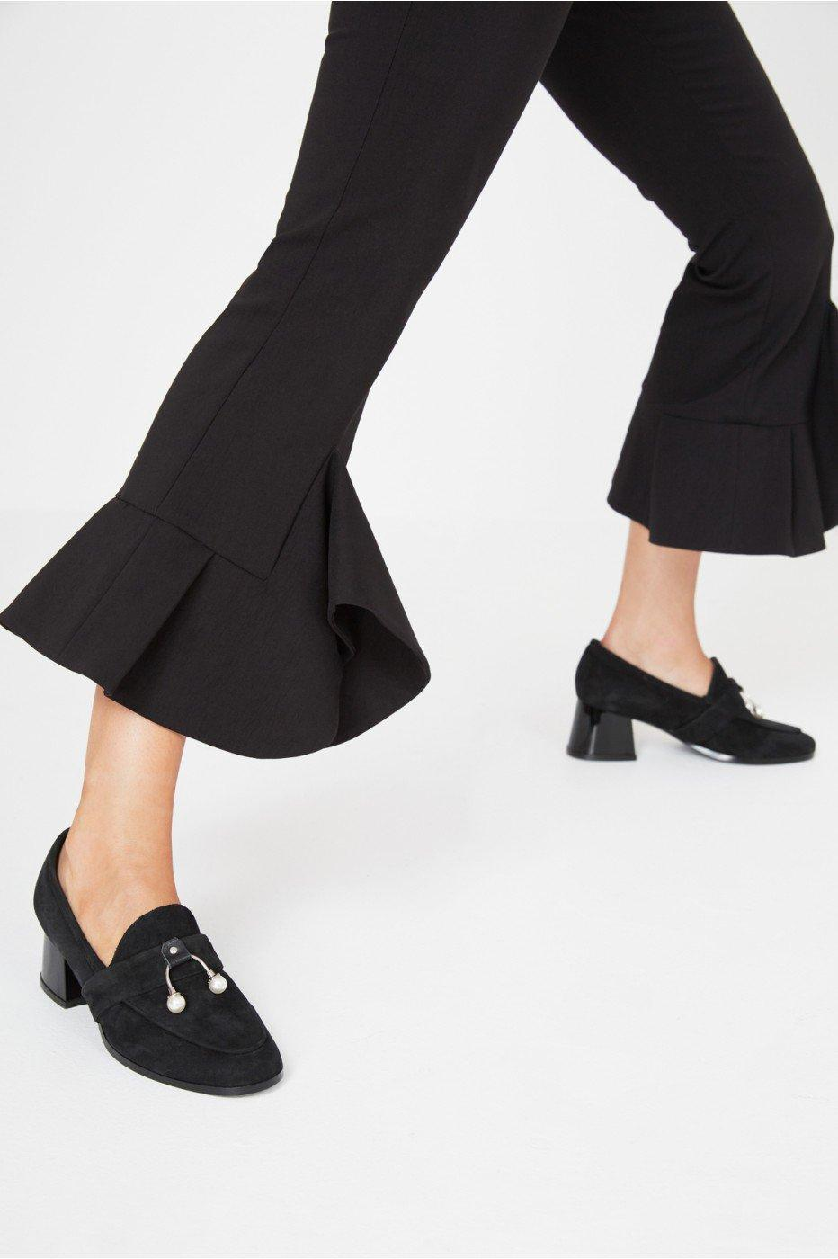 Jaggar Intermix Loafer Heel In Black