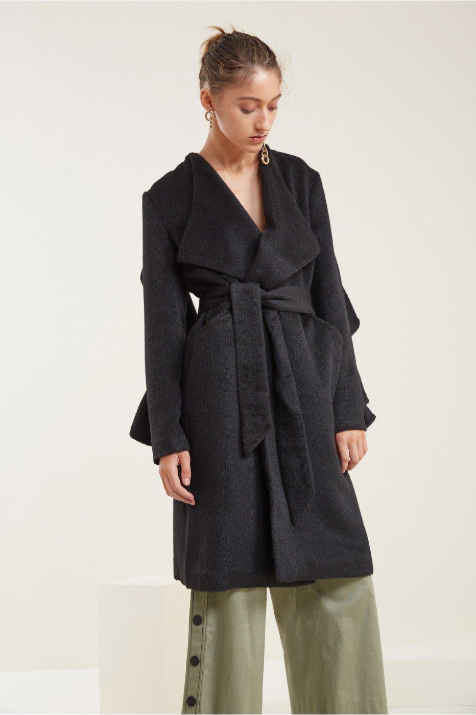 C/meo Collective Orbit Coat In Black