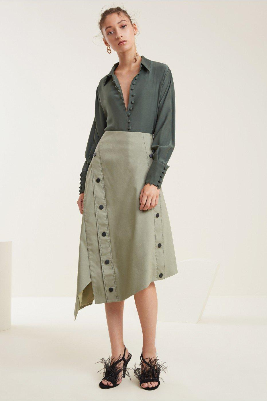 C/meo Collective Desire Skirt In Sage