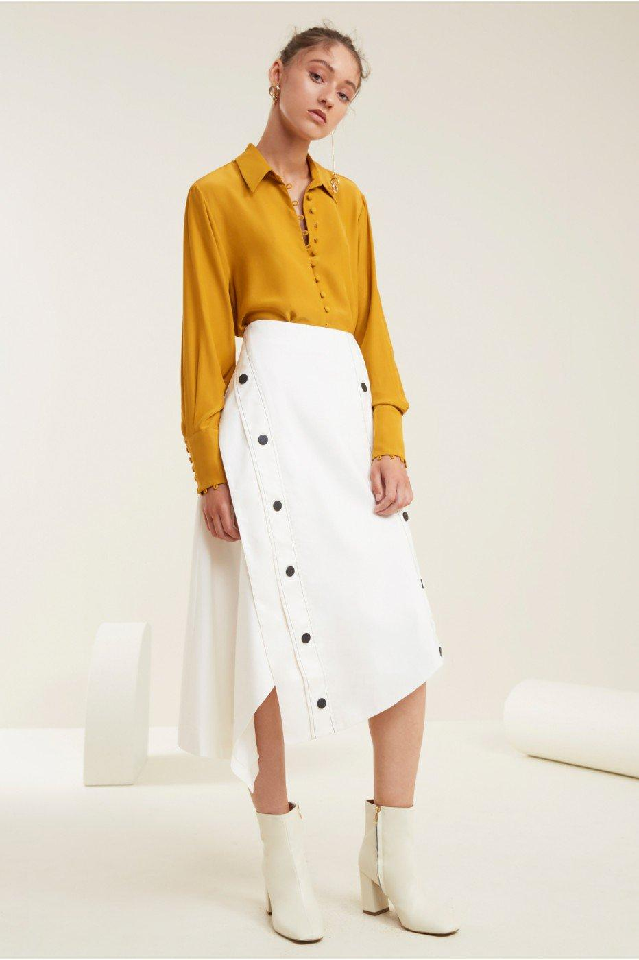 C/meo Collective Desire Skirt In Ivory