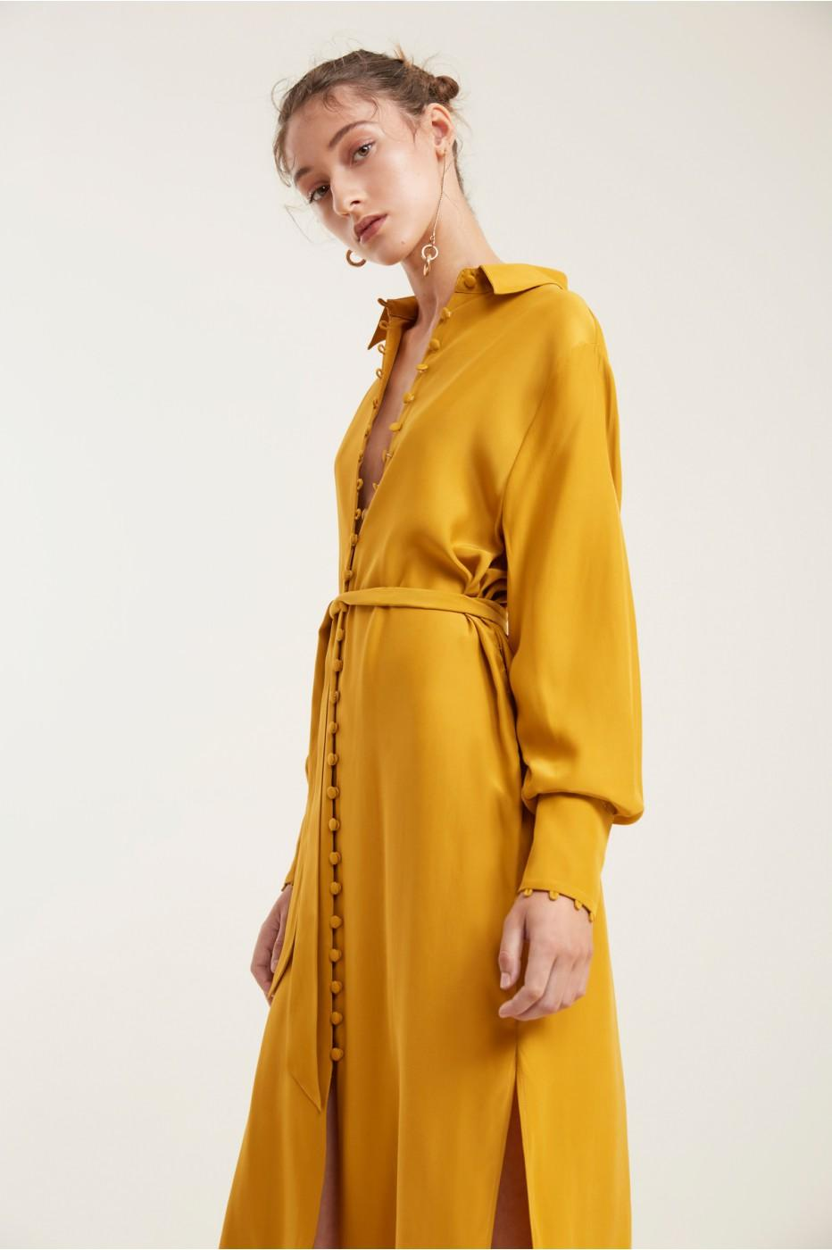 C/meo Collective Substance Dress In Marigold