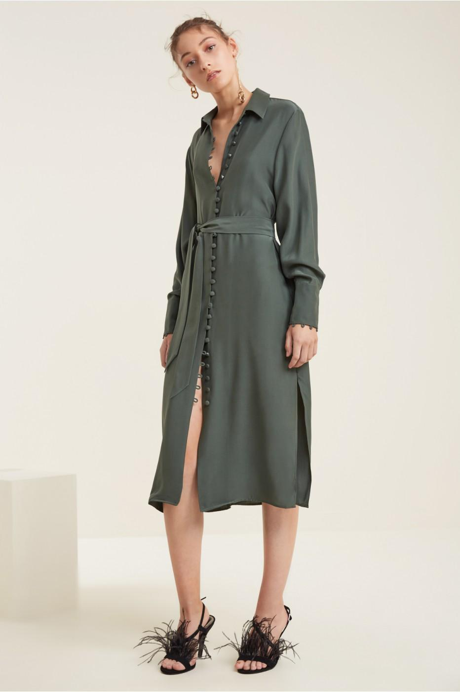 C/meo Collective Substance Dress In Forest