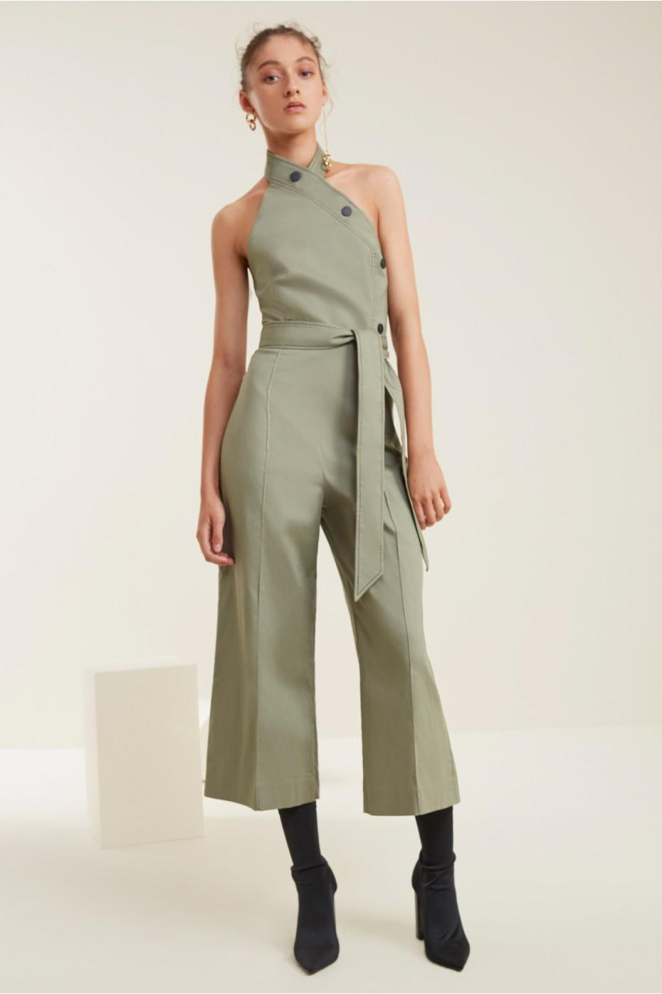 C/meo Collective Desire Jumpsuit In Sage