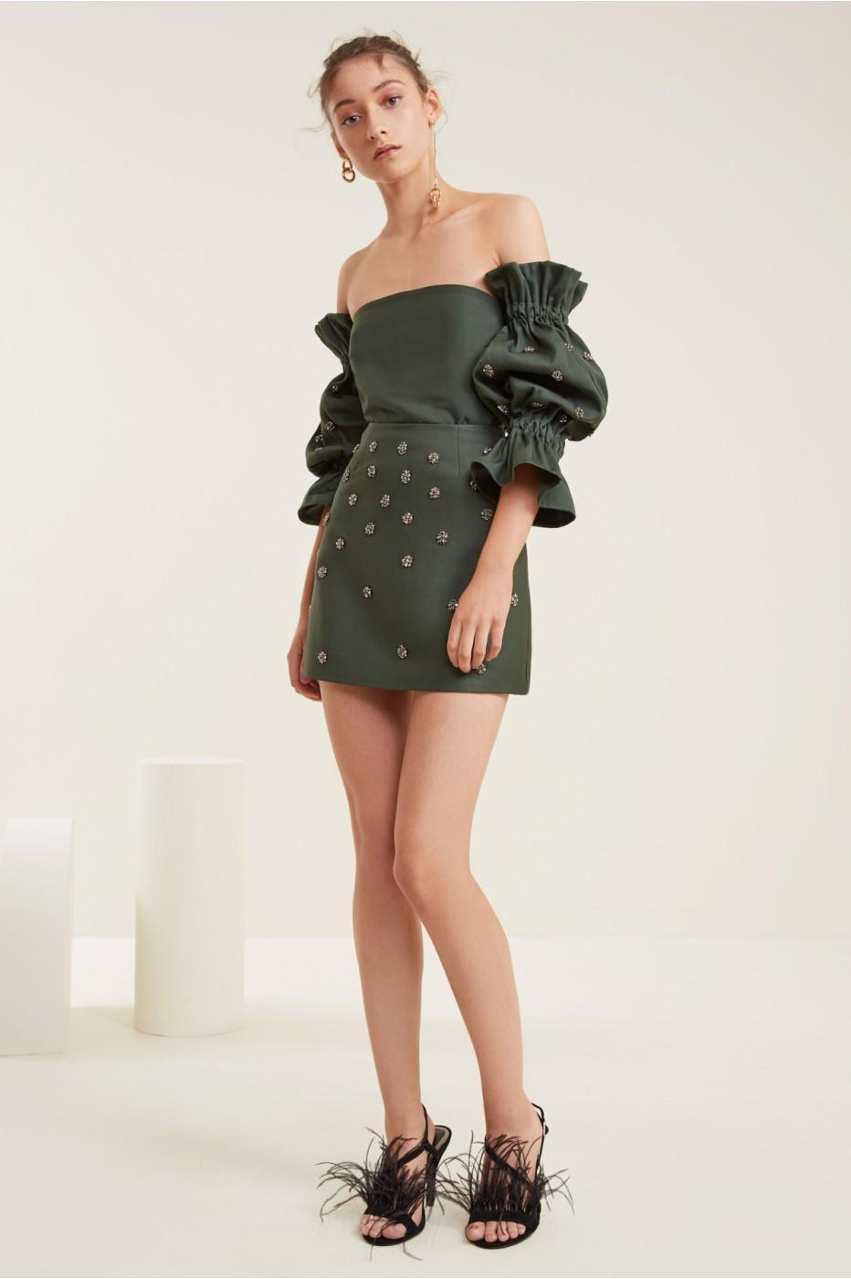 C/meo Collective Assemble Mini Skirt In Forest