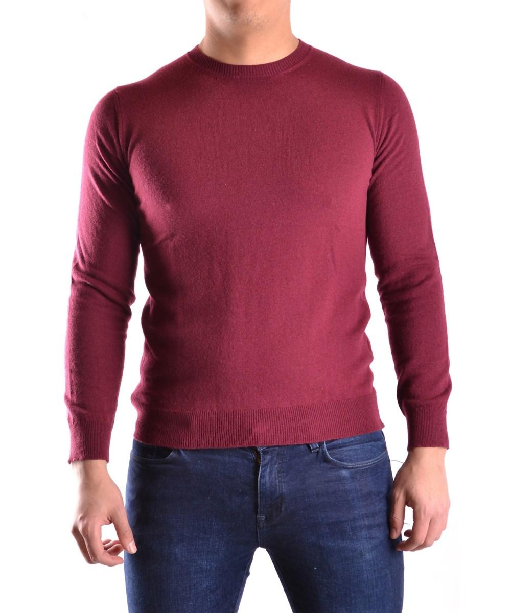 Daniele Alessandrini Men's  Burgundy Viscose Sweater In Red