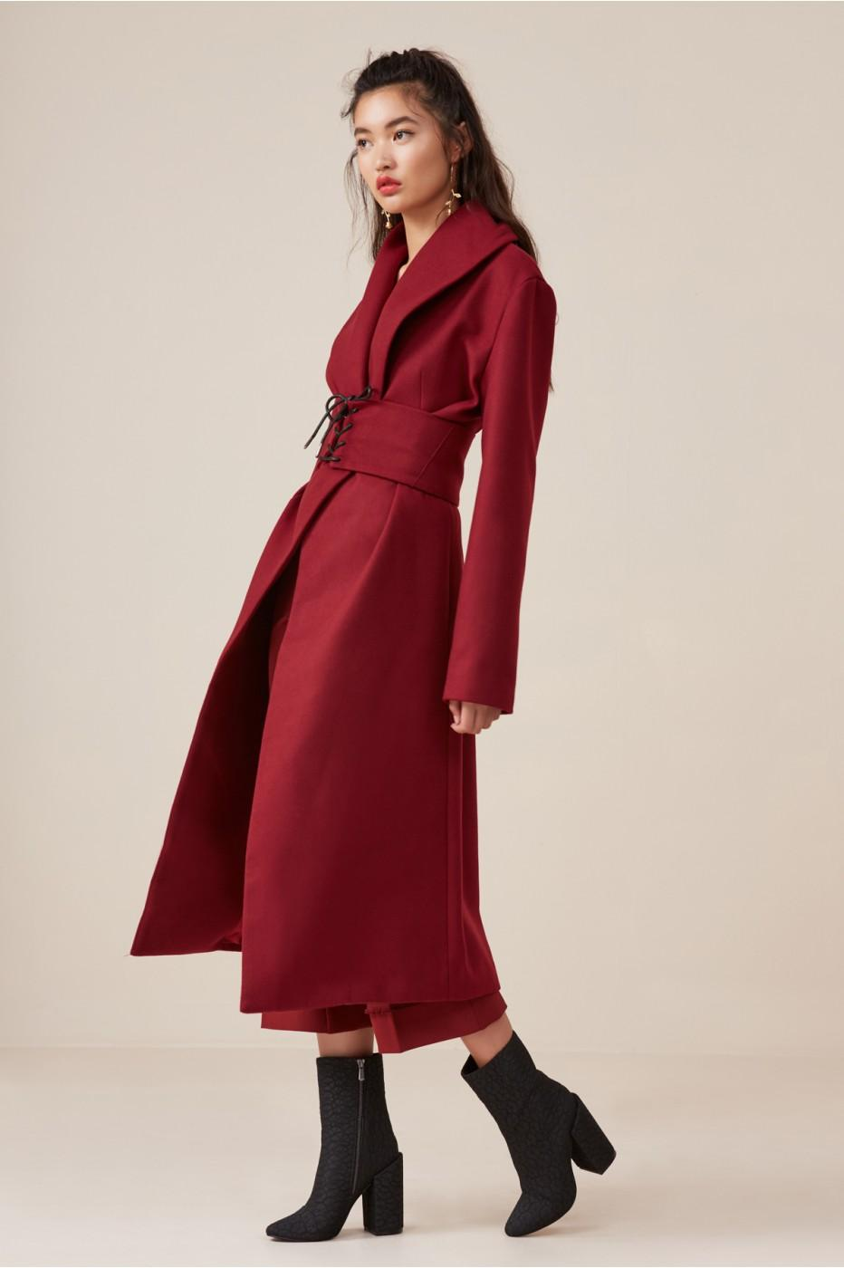 Finders Keepers Direction Coat In Fig