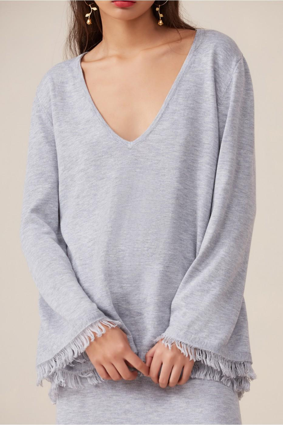 Finders Keepers Frankie Knit In Grey Marle