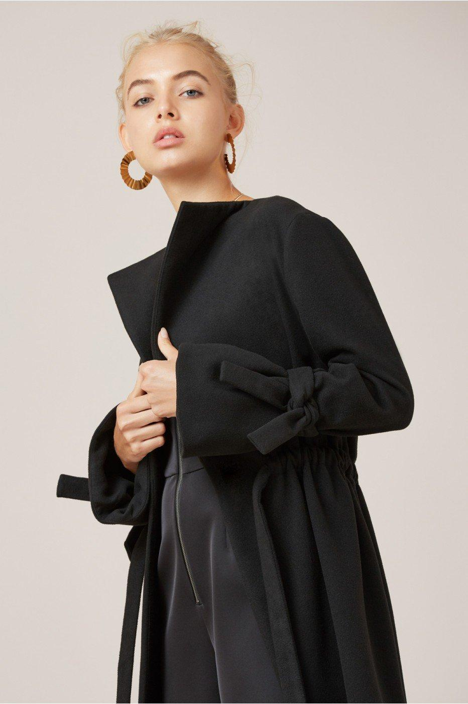 Finders Keepers Direction Coat In Black