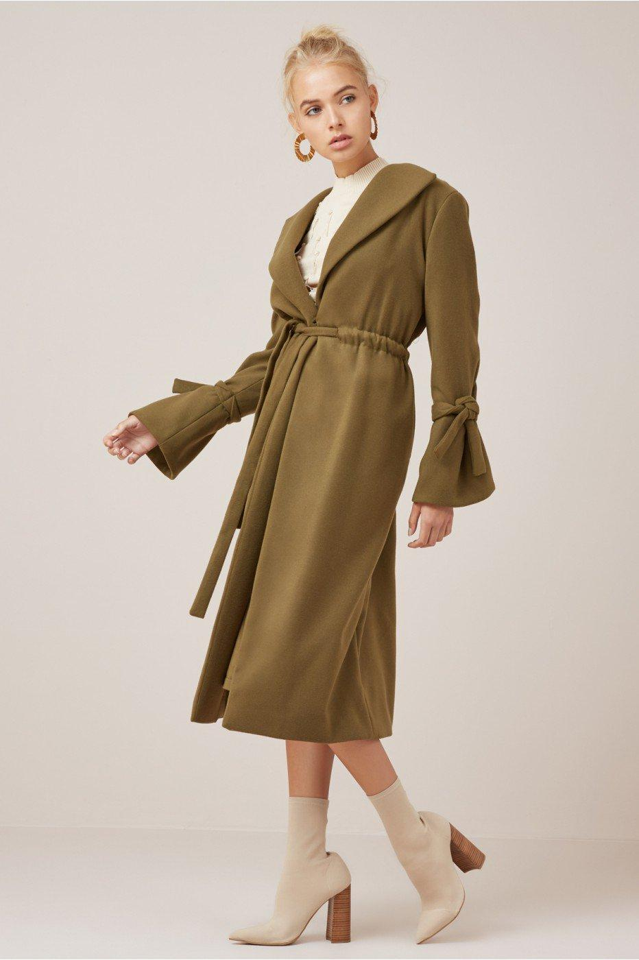 Finders Keepers Direction Coat In Juniper