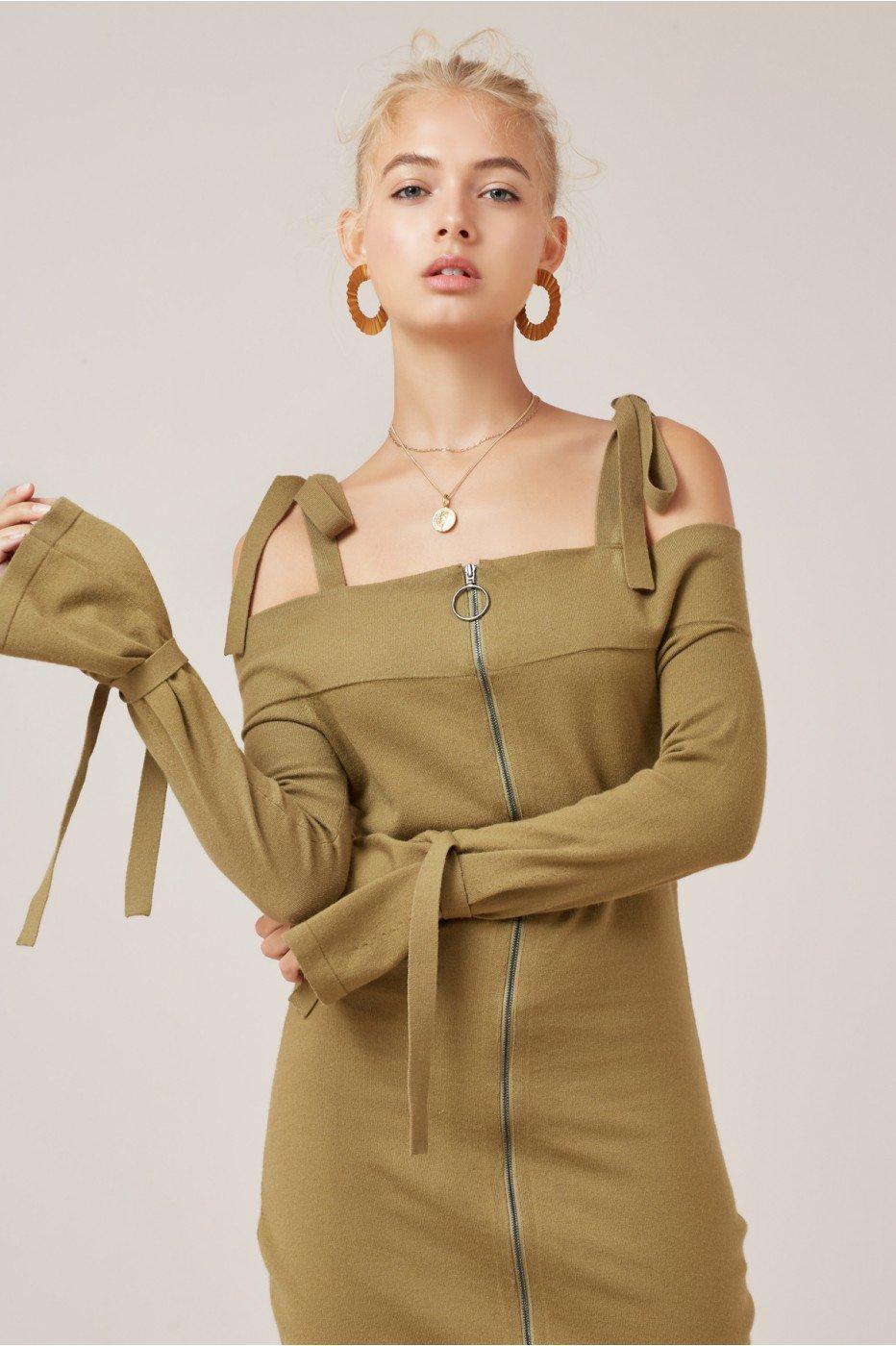 Finders Keepers Objects Knit Dress In Juniper