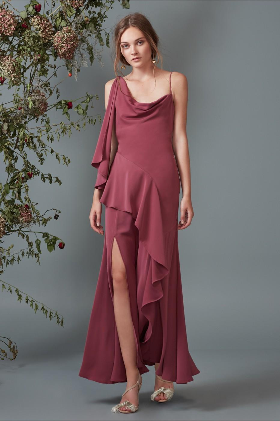 Keepsake Be Mine Gown In Mulberry