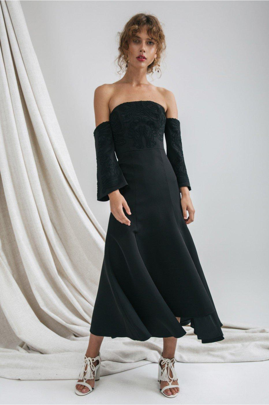 C/meo Collective Paradise Midi Dress In Black