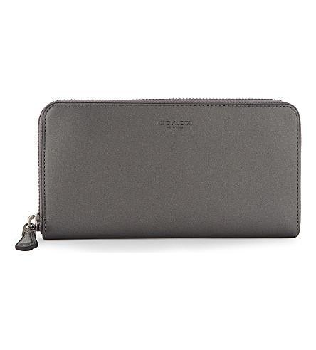 Coach Metallic Zipper-around Continental Wallet In Dk/bronze