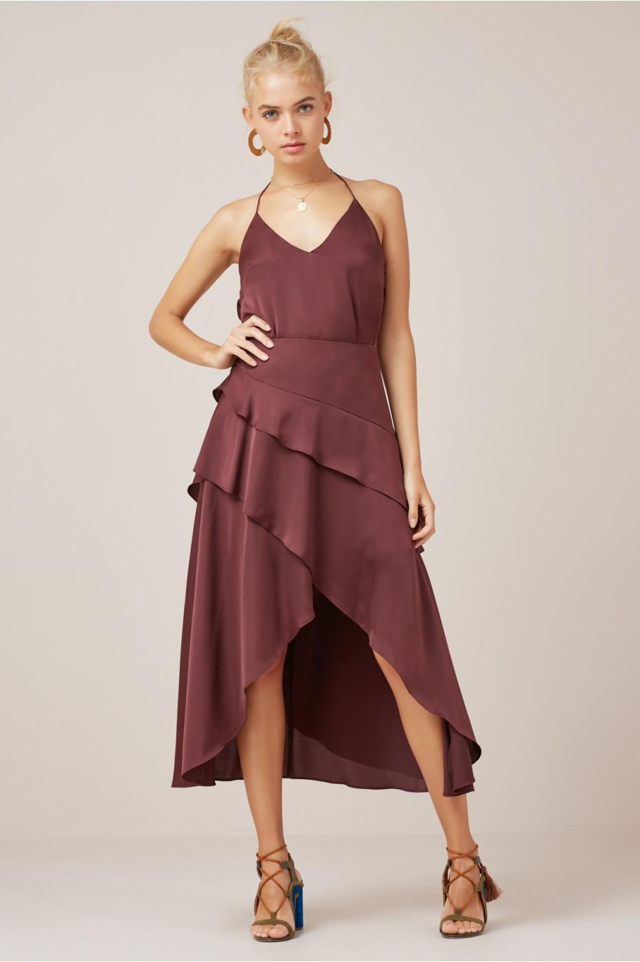 Finders Keepers Seasons Skirt In Plum