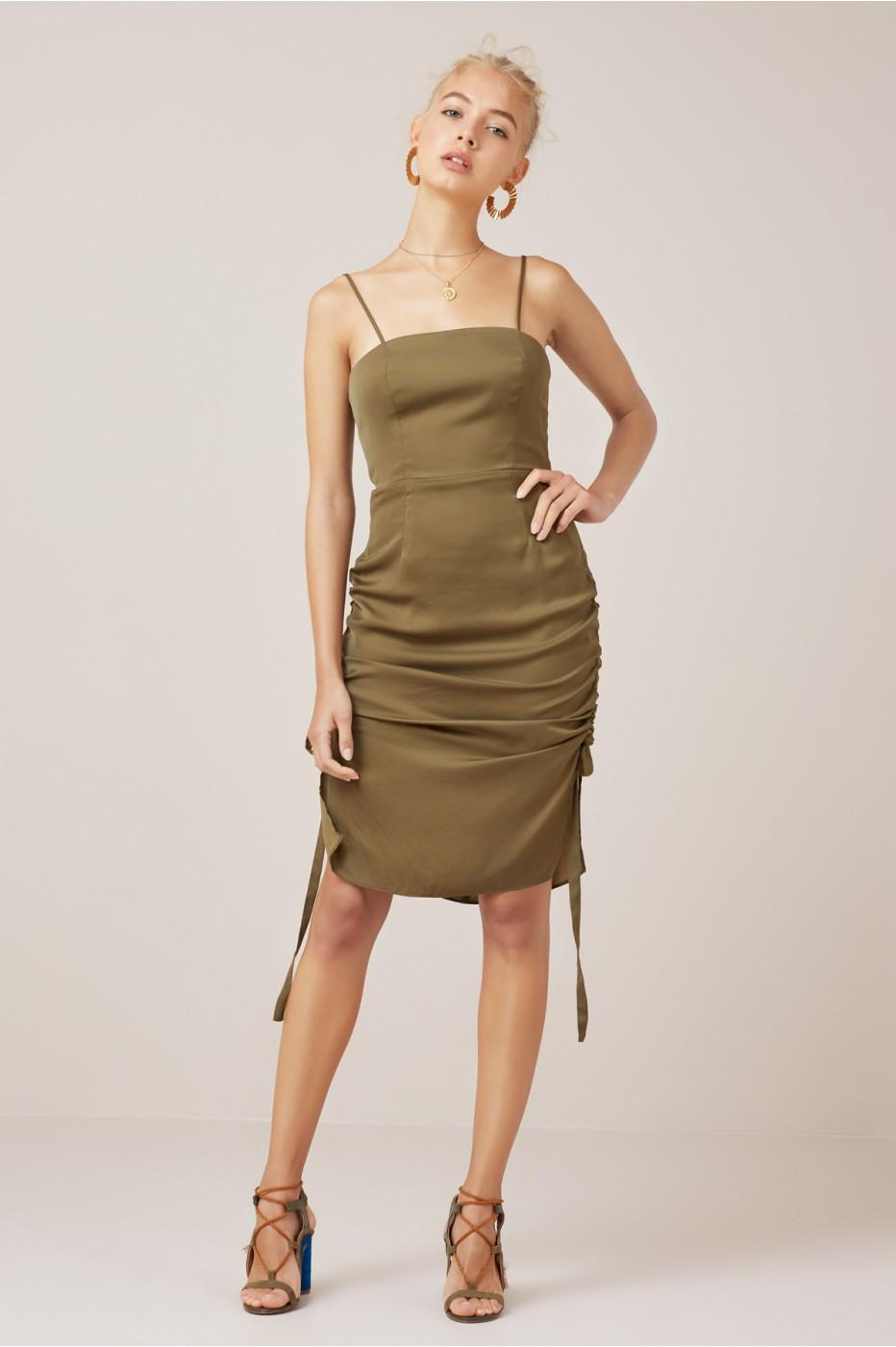 Finders Keepers Direction Dress In Juniper