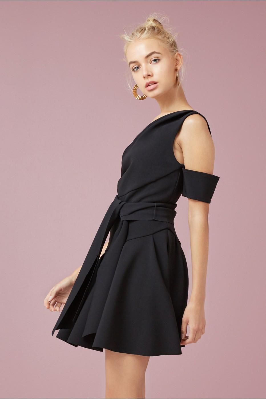 Finders Keepers Oblivion Mini Dress In Black