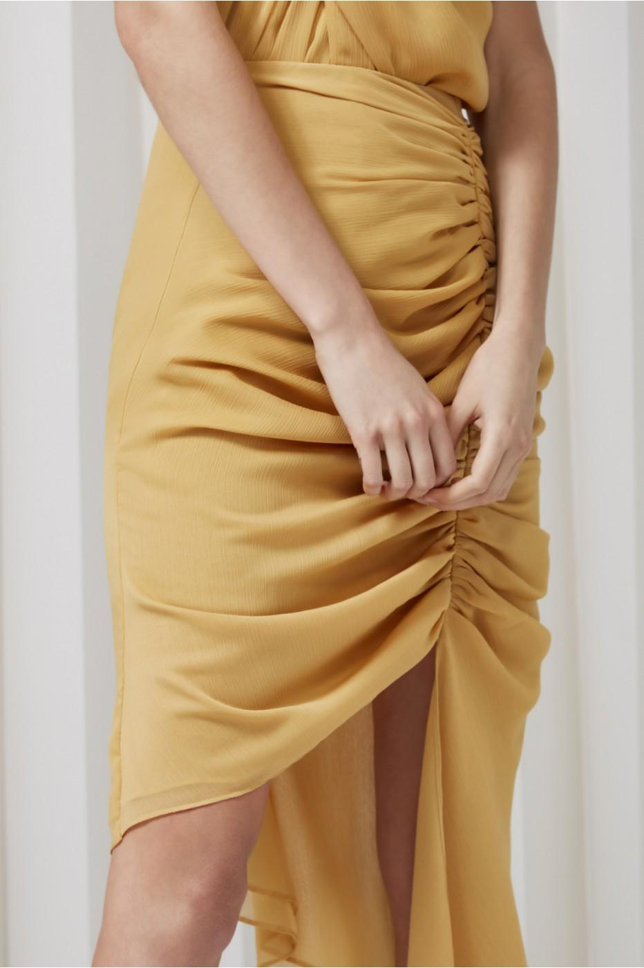 Keepsake Elevate Skirt In Mustard