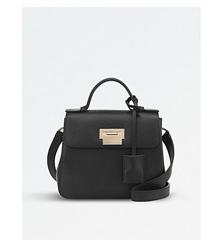 Smythson Grosvenor Mini Crossbody Bag In Black