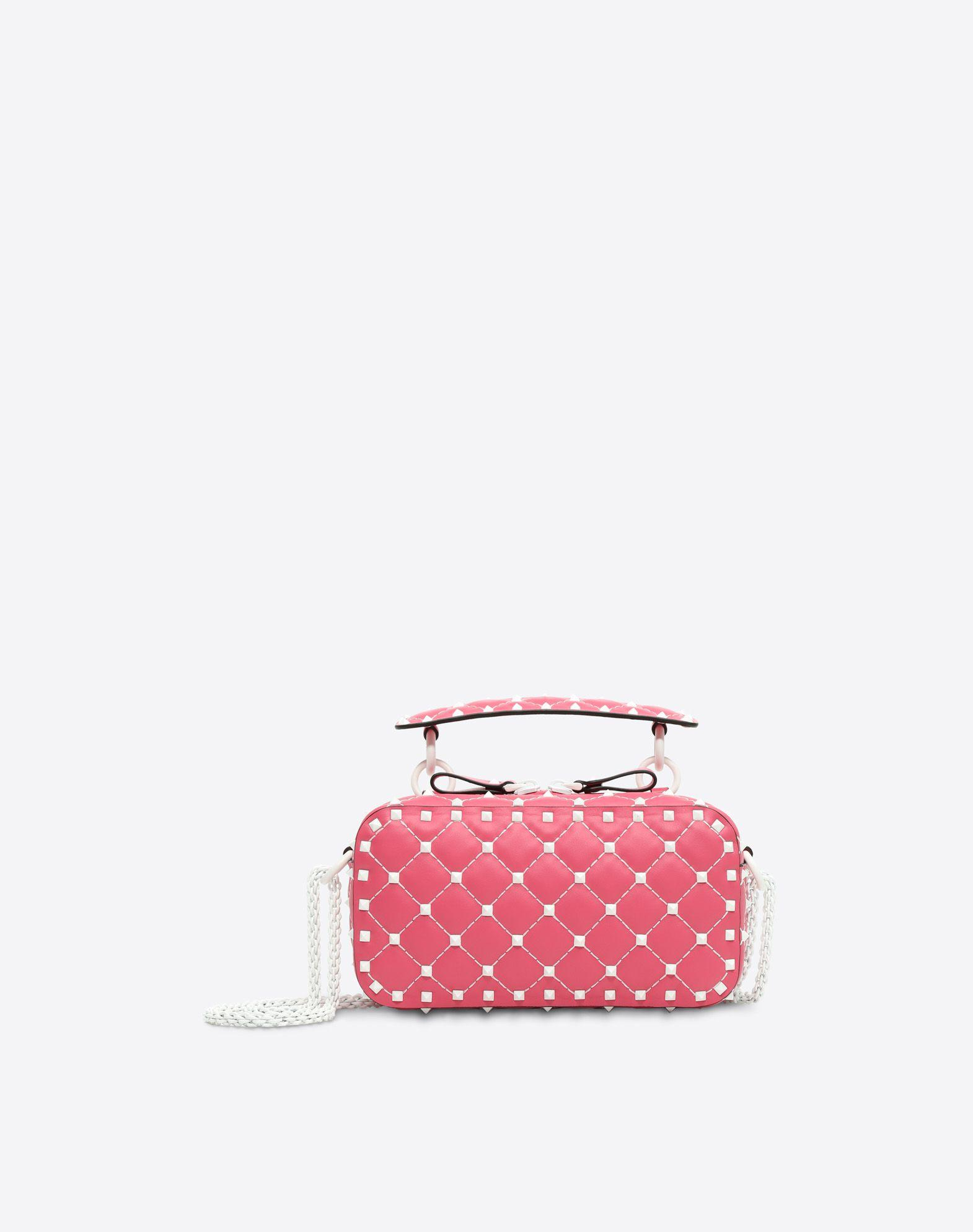 Valentino Garavani Rockstud Spike Quilted-leather Cross-body Bag In Bright Pink