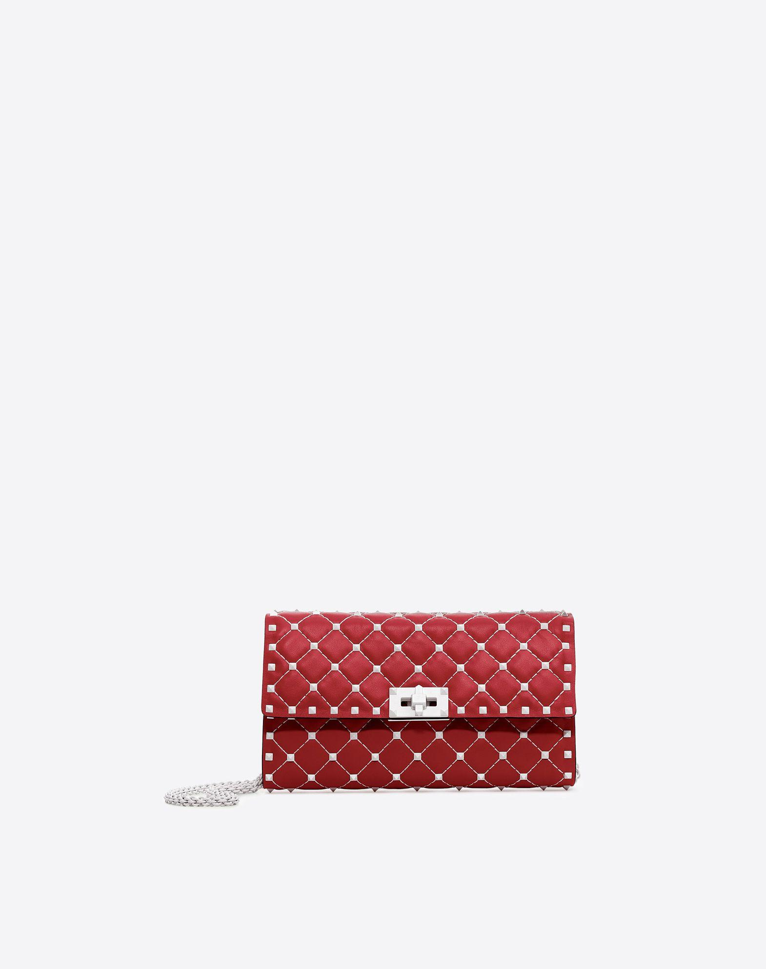 Valentino Garavani Free Rockstud Spike Chain Bag In Valentino Red