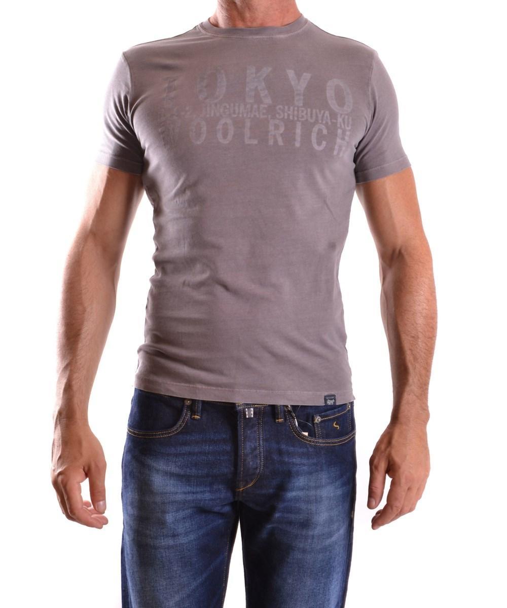 Woolrich Men's  Grey Cotton T-shirt