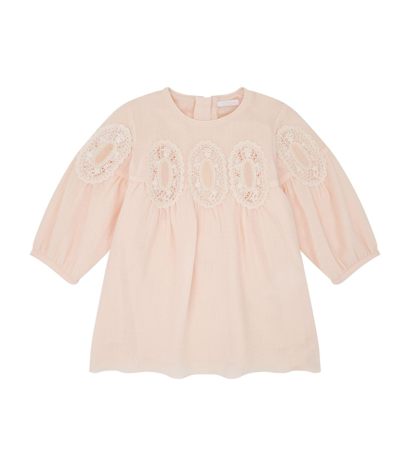 ChloÉ Lace Medalliondress In Pink