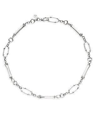 John Hardy Bamboo Sterling Silver Slim Sapling Link Station Necklace