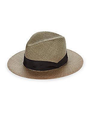 Rag & Bone Straw Panama Hat In Army Green
