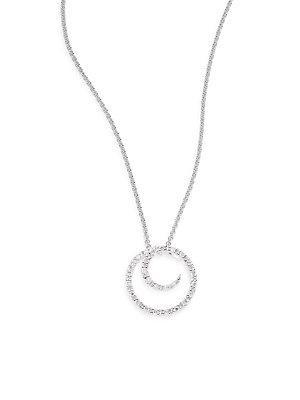 Saks Fifth Avenue 0.1 Tcw Diamond & 14k White Gold Swirl Necklace