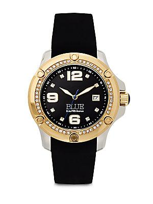 Saks Fifth Avenue Stainless Steel Watch/black In Black Gold